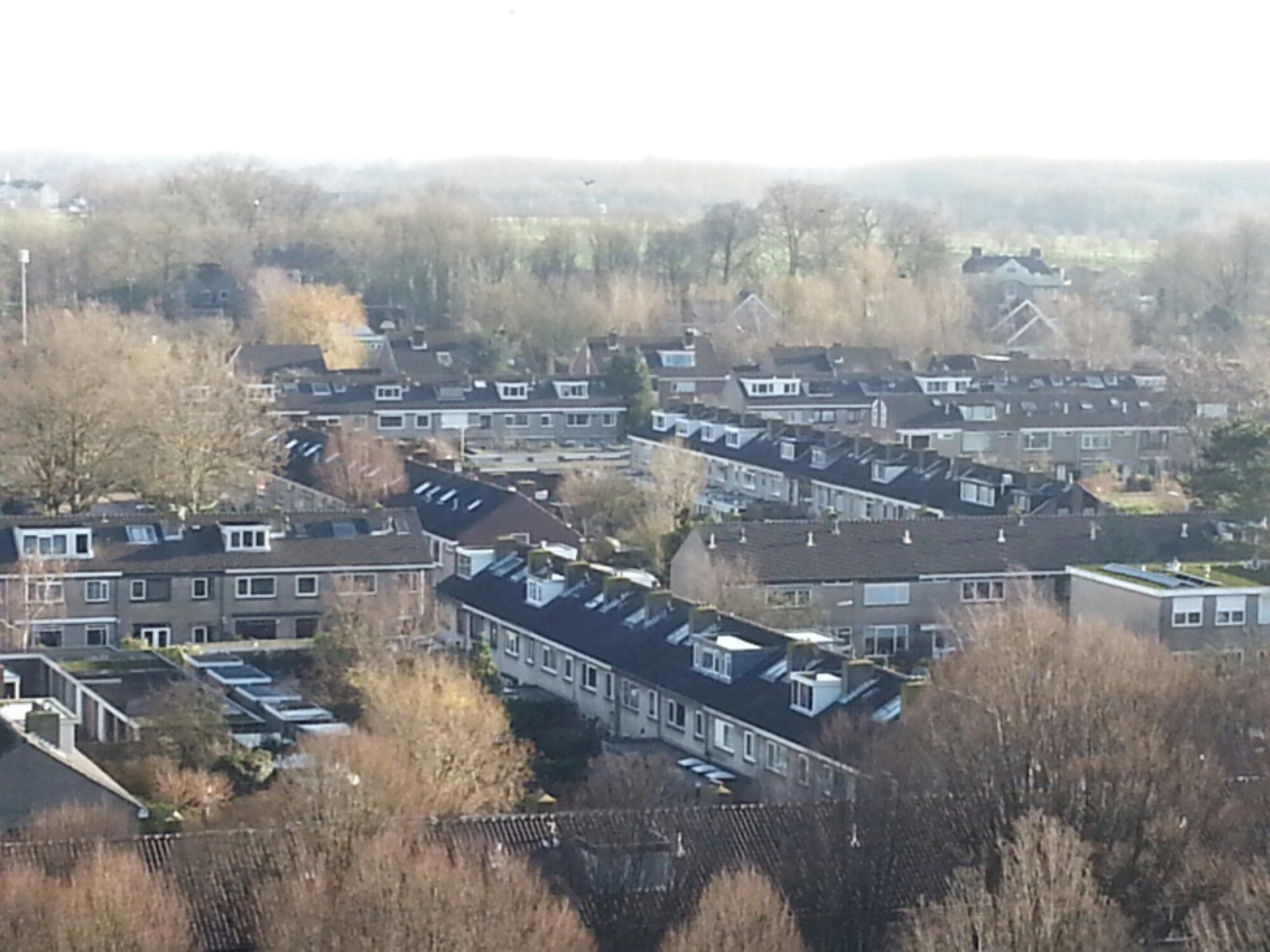 QTH van PA7ML in een woonwijk van Breukelen